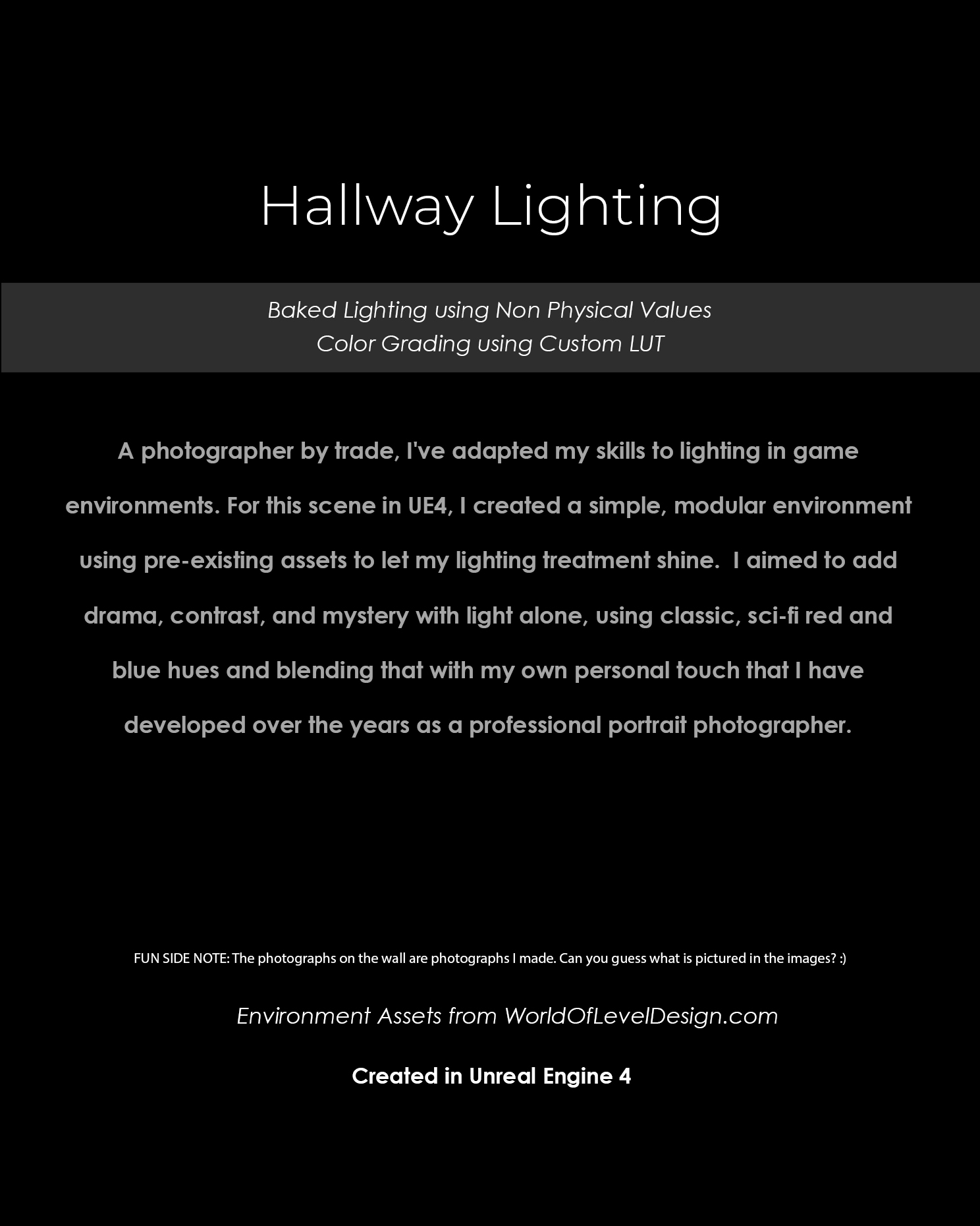 Hallway Lighting Title Page