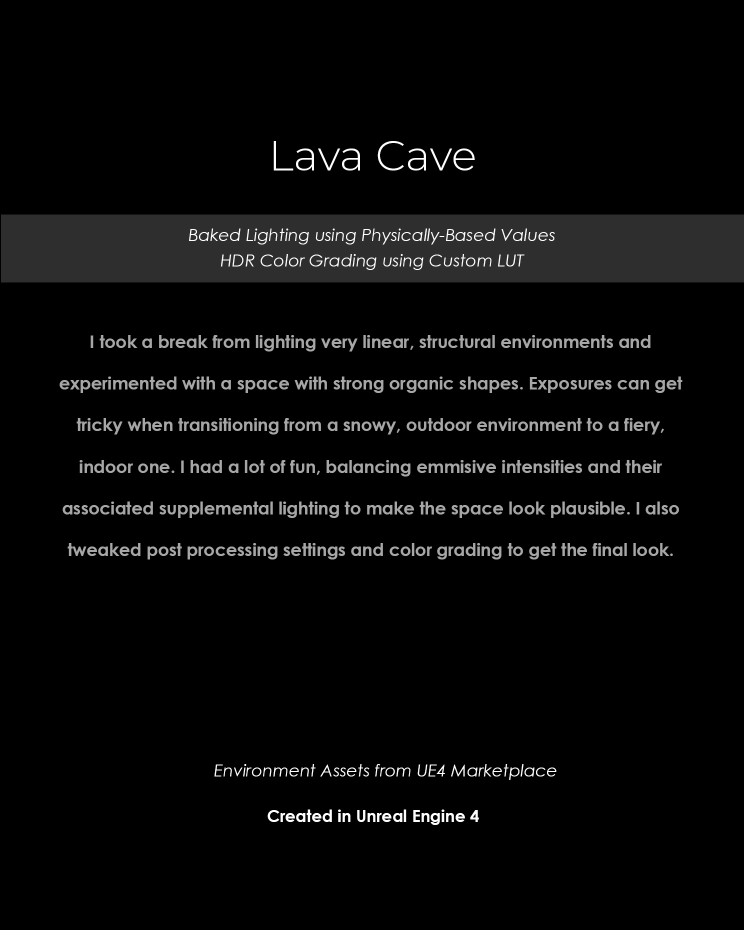 Title Page - Lava Cave Lighting