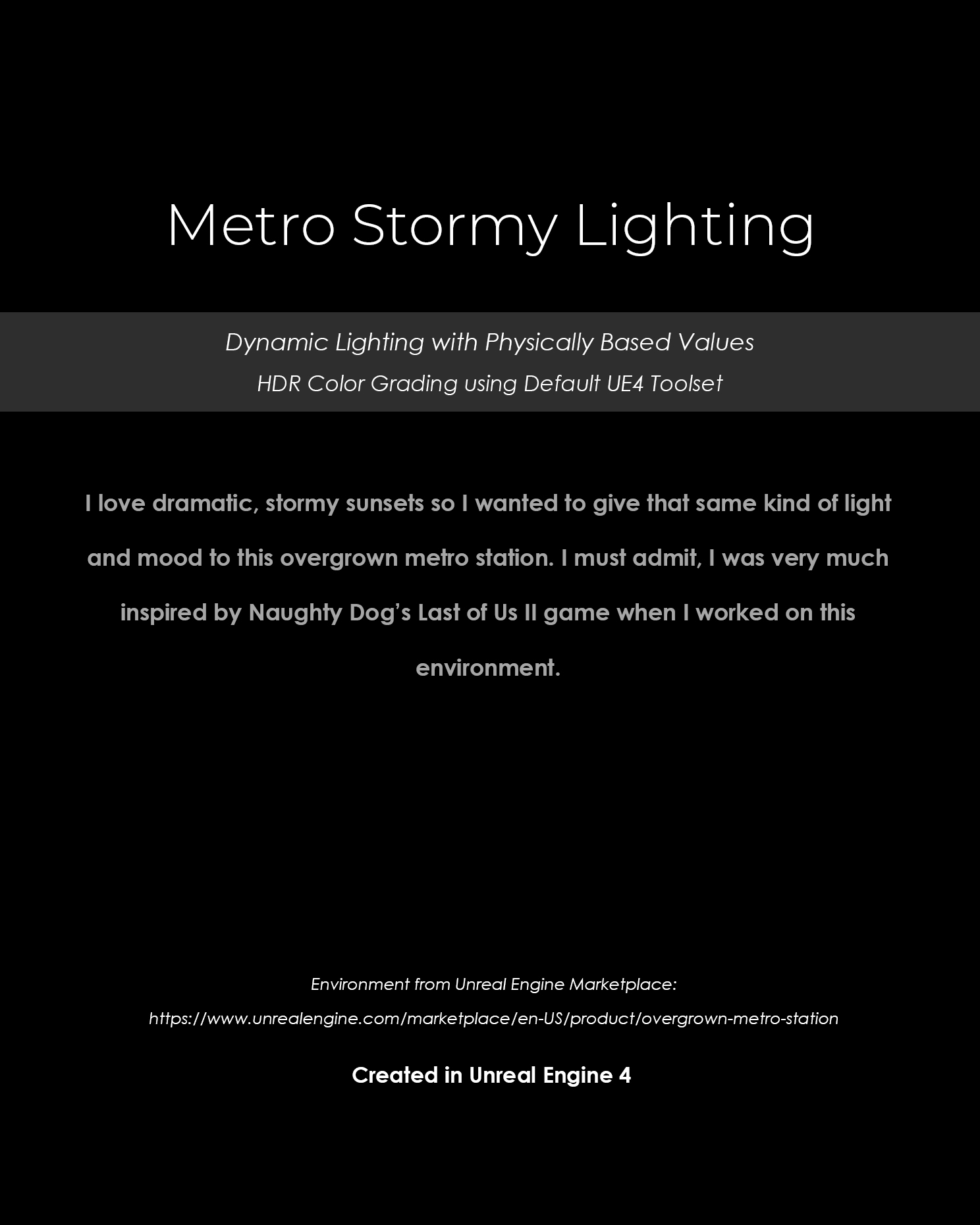 Metro Stormy Lighting Title Page